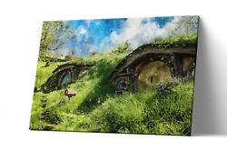The Shire Lord Of The Ring Canvas Print Lotr Wall Art Artwork Painting Poster