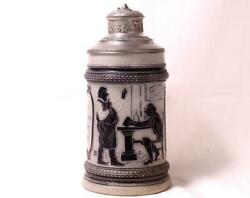 Аntique Hr Hauber And Reuther Stoneware Beer Stein Old Assyrian 251 C.1890s