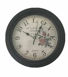 Better Homes And Gardens 11 Love Antique Brown Wall Clock Magazine Inspired Style