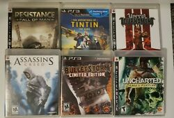 Ps3 Video Game Bundle Of 6. All With Manuals