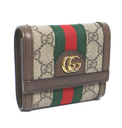 Gg Supreme Trifold Compact Wallet Sherry Line 50926 Free Shipping From Jp