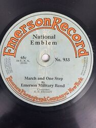 9quot; 78 RPM Emerson Record 933 Emerson Military Band Gate City National Emblem