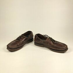 Sperrys Top Sider Mako Collection Dark Brown Leather Casual Boat Shoes Size 11m