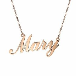 Women#x27;s Stainless Steel Charm Unique Name Custom Pendant Necklace Chain For Gift
