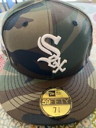 Chicago White Sox 2005 World Series Camo Gold Bottom/uv Fitted Hat Size 7 3/8