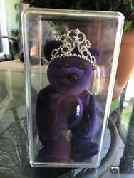 Ty Beanie Baby Princess Diana Bear 1997 W/ Crown And Collectors Case Mint Condit