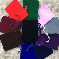 Multi Color Velvet Bags Jewelry Wedding Party Favors Gifts Drawstring Pouches $11.99