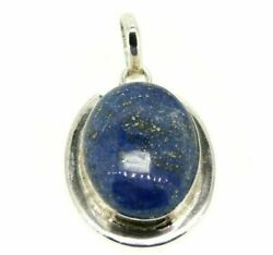 Pendant Vintage Yearsand039 70 In Silver Solid 925 With Big Lapis Lazuli