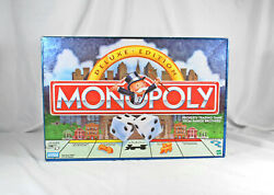 Monopoly 1998 Deluxe Edition Board Game Money Sack Wood Houses Hotels Complete