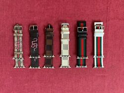 Luxury Leather Strap iWatch Band For Apple Watch Series 6 5 4 3 2 1 38 40 42 44M $12.99