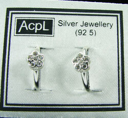 925 Solid Sterling Silver Beautiful Handmade Pair Of Toe Rings With Cz - 899