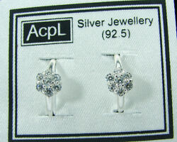 925 Solid Sterling Silver Beautiful Handmade Pair Of Toe Rings With Cz - 906