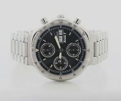 Baume And Mercier Formula-s Chronograph Automatic 39mm Steel Menand039s Watch Mv04fo13