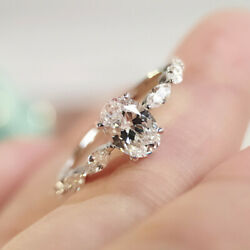Shine Women Jewelry 925 Silver Wedding Rings White Sapphire Rings Size 6 10 $2.19