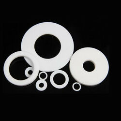 High Temp White Dn15dn400 Ptfe F4 Flange Gasket Plastic Solid Sealing Washer