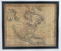 Antique Early American Map North America Thomas Jefferys Hand Colored Print