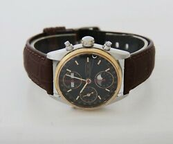 Eberhard And Co Navy Master 32012/b Full-calendar Moonphase Chronograph Automatic