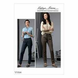 Vogue V9304 Misses Semi Fitted Pull On Pants Sewing Pattern Size 6-14 Or 14-22