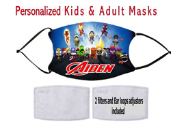 Super Heroes Kids Mask Personalized Kids protective mask $15.00