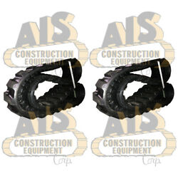 Set Of Two New Rubber Tracks Fits John Deere 27d And Replaces Mpn 21u-35-32110