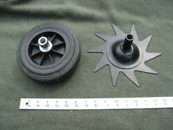 Tiller Edger Tine And A 7 Inch Hard Rubber Wheel For Edger Sheer Pin Attachment