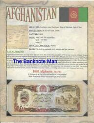Afghanistan 1000 Afghanis P- 61 🍁 5th Issue World Banknote Series 🍁 Limited