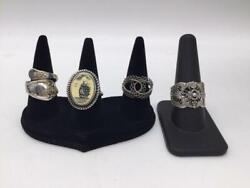 A Lot Of 4 Antique And Alaskan Inuit Jewelry Rings