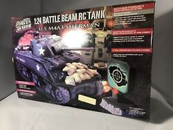 Rare Forces Of Valor 124 Radio Controlled Us M4a3 Sherman Tank Mib Tr12