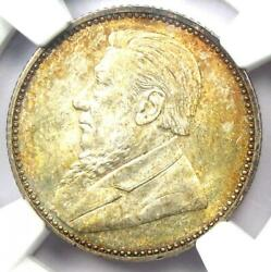 1897 South Africa Sixpence 6d - Certified Ngc Ms64 - Rare Date Bu Unc Zar Coin