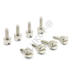 Ni-plated M4 Slotted Knurled Thumb Slingshot Screw Hand Grip Knob Bolts /spring