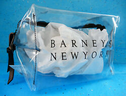 Barneys New York Clear PVC Makeup Bag Travel Cosmetic Dopp Kit TSA Friendly $38.99