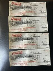 4 Coca Cola Bottling Works Cancelled Checks From 1928