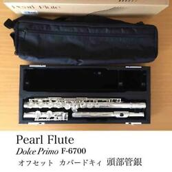 Pearl Flute Dolce Primo 6700 Head Suga Silver Made In Japan