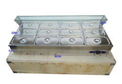 Top-quality Electric Food Warmer With 12 Pcs Pans For Restaurantschool Etc. Us