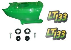 Newlower Hood And Set Of 2 Decals Replaces Am131759 Am122875 Fits John Deere Lt133
