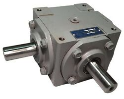 40 Hp Right Angle Bevel Gearbox With 2 Keyed Shafts Cw/cw 11