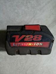 1x V28 Milwaukee Rechargeable Lithium Ion Battery PARTS REPAIR 48 11 2830 28V