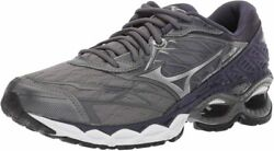 Mizuno Menand039s Wave Creation 20 Running Shoe 14 Stormy Weather-silver