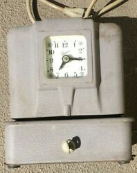 Vintage Simplex Time Recorder Jcp10r4 Punch Clock. As Is. As Is.
