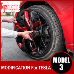 For Tesla Model 3 18-inch Wheel Hub Caps Cover Trim Ring Decorative Accessories