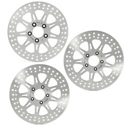 Front Rear Brake Rotors Dyna Fat Bob Fxdf 08-17 Low Rider Fxdl 14-17 Fxdbc 2016