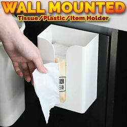 Idrop Tissue Box And Plastic Roll Wall Mounted Holder And Household Item Storage