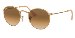 New Ray Ban Round RB3447 Sunglasses 112 51 Gold Brown Gradient lenses 50mm $86.00