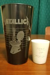 Metallica Metal Up Your Ass Etched Pint And Shot Glass