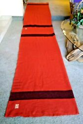 Hudson Bay 3.5 Point Un-separated Pair Vintage 67 X 162 Red And Black - Rare