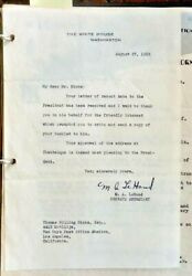 1936 Letter From White Housem.a. Missy Le Hand Signed For Fdr