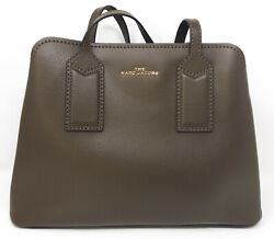 Marc Jacobs M0012564 The Editor Brown Night Owl Logo Tote Women#x27;s Handbag New $214.14