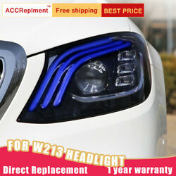For Benz E-class W213 Headlights Assembly Bi-xenon Lens Projector Led Drl 16-20
