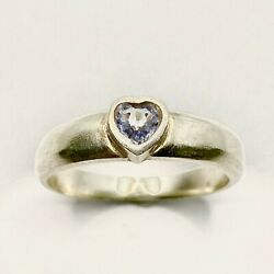 Natural Light Blue Sapphire Heart 925 Sterling Silver,9ct 14k 18k Gold Ring
