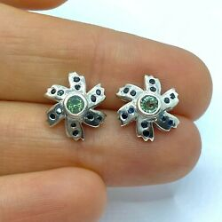0.3ct Natural Alexandrites 925 Silver 9ct 14k 18k Gold Stud Earrings